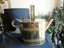 VINTAGE BELDRAY BRASS WATERING CAN No 4 OVAL SHAPE LIFT UP HALF LID